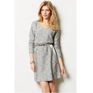 Saturday Sunday Gray Sweatshirt V Neck Dress Small